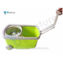 removable 360 magic spin mop with two wheels, mop with bucket