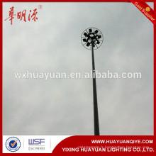 Mât en acier inoxydable de 30 m pour grand carré, mât d'antenne télescopique