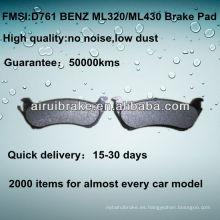 D761 NO NOISE pastillas de freno de disco de metal bajo para BENZ ML320 / ML430