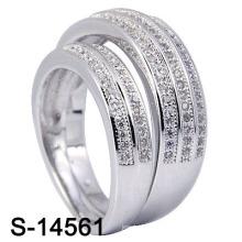 Bague de mariage avec 925 Sterling Silve (S-14561. JPG)
