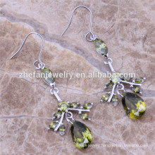 handmade bridal silver earrings jewelry settings with cz stones Rhodium plated jewelry is your good pick