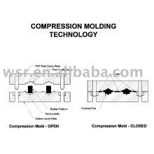 Kompression Kautschuk Form, Gummiform