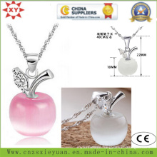 Fahion Jewelry 925 Sliver Necklace with Stone for Promotional Gifts