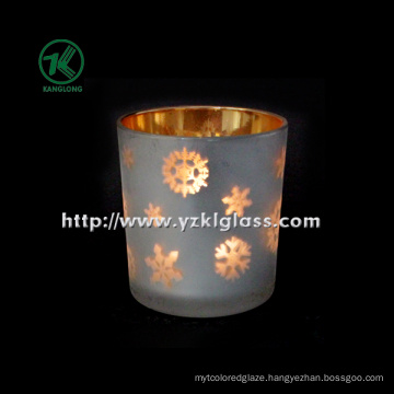 Color Double Wall Glass Candle Cup by BV (6.5*7.2*8)