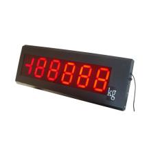 Affichage de l'échelle de pesée CE (Hz)