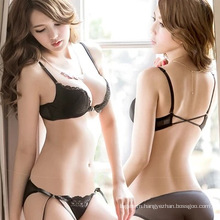 Wholesale new design fashion comfortable sexy lace women bra and panty set