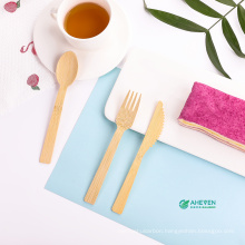 Wholesale hot selling eco-friendly adults kids travel natural bamboo knife fork spoon cutlery set