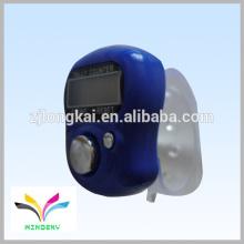 Venta caliente regalo promocional anillo digital azul muselina dedo contador de cuenta barata