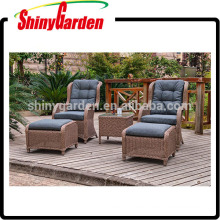 5pcs Outdoor Freizeit Rattan Sofa Set