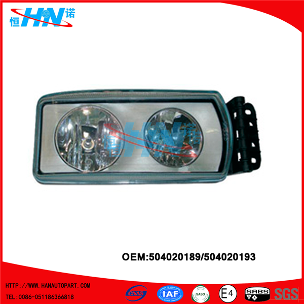 Iveco Head Lamp 504020189 504020193 Iveco Truck Accessories