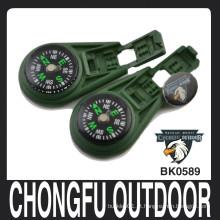 Exército verde líquido Preenchido bloqueio clip Compass atacado