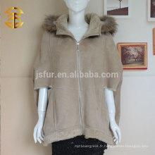 Top Fashion Top Quality Camel Color Ladies peau de mouton double face fourrure et cuir 1.jpg PaOvercoat gros Manteau Manche Manches