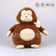 ISO9001 auditado Macaco Brinquedos Flanela, mono de peluche de felpa de fábrica de Guangdong