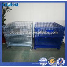 contenedor de alambre de equipo de almacén personalizado / contenedor apilable de alta calidad de malla de alambre