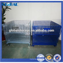 customized warehouse equipment wire container/high quality stackable container of wire mesh