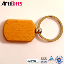Artigifts company Professional rectangle wood keychain