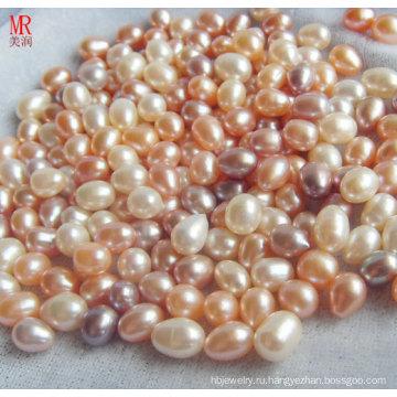 8-9мм смешанный цвет риса / овальной пресной воды Loose Pearls