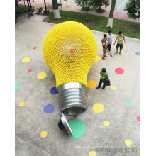 Large Modern Arts color light outdoor decoration stainless steel sculpture