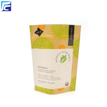 8 Oz Stand Up Pouches Tea Bolsas de embalaje