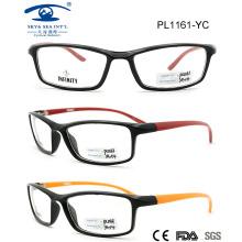 2015 Высококачественные недорогие пластиковые оптические очки для взрослых (PL1161)