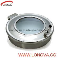 Manway sanitario del acero inoxidable con el vidrio de la vista