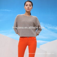 Stoll jacquard feminino de cashmere dolman sweater
