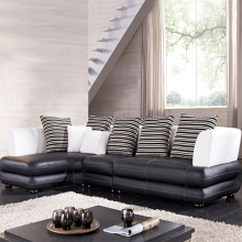 Leather Corner Cushion Sectional Sofa With Chaise
