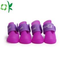 Chaussures imperméables pour animaux de compagnie chaussures de chien de pluie en silicone extérieur