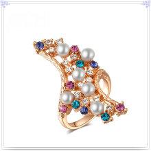 Anillo cristalino de la aleación de la joyería de la joyería de la manera (AL0004G)