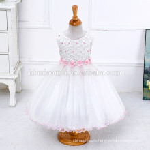 2017 summer white princess ball gown girl party wear western dress for first communication