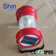 Plástico ABS / PC transparente La linterna llevada que acampa que acampa la linterna solar que acampa