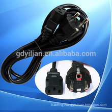 European plug power cord/cable/wire 2 circles pin/staight head plug pin