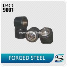 Kundengebundene Kugelpresse-Mühlkohlenstoffstahl-Rollen Stahlroller-Oberteile