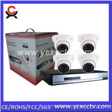 4ch NVR kit con 4pcs 720P cámaras IP