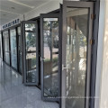 Glass Aluminum Bifold Doors Windows Sliding Casement Aluminum Frame Multi-fold Double Glazed Modern Design