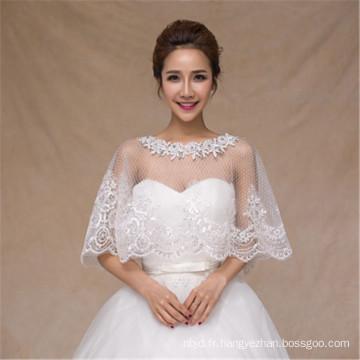 2017 Robe de mariée en robe de mariée en robe de mariée en applique en dentelle blanche