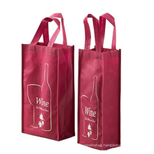 Reusable skillful durable 2 bottles recyclable non woven wine bag