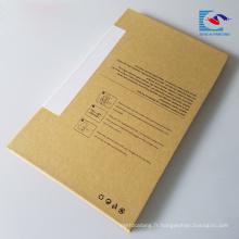 boîte de protecteur d'écran de verre trempé de téléphone de papier de métier de haute qualité