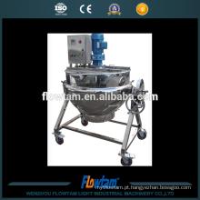 Potes de cozinha elétricos elétricos do aço inoxidável 100L, potenciômetro de cozimento do vapor com misturador