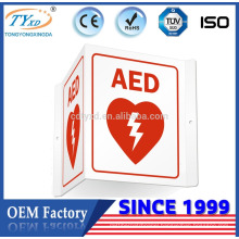 factory hot sales outdoor aed wall sign