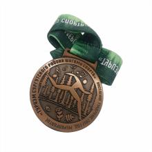 Medalla deportiva de cobre fundido a presión personalizada