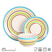 18PCS Handpainted Ceramic Stoneware Dinner Set Food Contact Safe