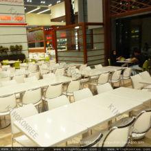 fácil de limpar o conjunto de mesa de jantar de superfície sólida buffet
