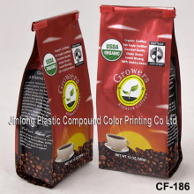 Fabricant en gros Quad-Seal Aluminium Foil Pouch, Plastic Coffee / Tea Packaging Bag with Valve
