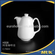 sell hotel and airline white ellipse design product ceramic sugar pot