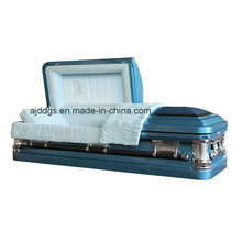 Blue Shaded Black Finish Coffin