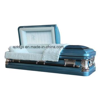 Cercueil bleu finition noire ombrée