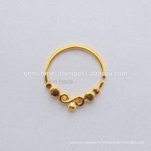 Bague plaquée or 925 anneaux en or sterling