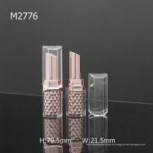 Cuadrado Diamante Plástico Brillante Empty Cosmetic Packaging Lipstick
