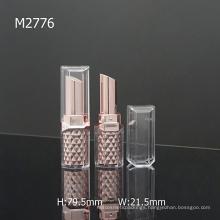 Square Diamond Shiny Plastic Empty Cosmetic Packaging Lipstick